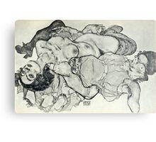 Egon Schiele - Zeichnungen VIII  (1915)  Metal Print