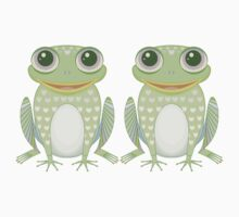 Happy Twin Frogs One Piece - Short Sleeve