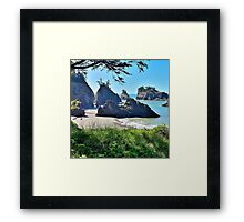 Secret Beach, Oregon Coast (square) Framed Print
