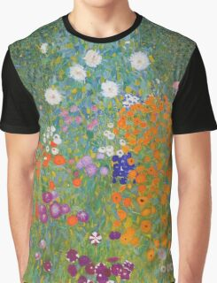 Gustav Klimt - Flower Garden, 1905-07 Graphic T-Shirt