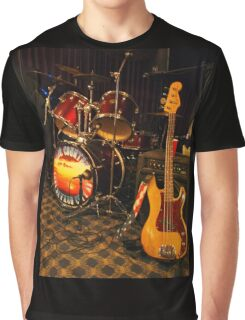 Drums & Guitar Graphic T-Shirt