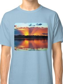 Orange Rays Sunrise Panorama. Apparel and Gifts Classic T-Shirt