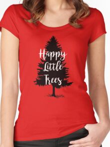 Happy Little Trees (Bob Ross) Women's Fitted Scoop T-Shirt
