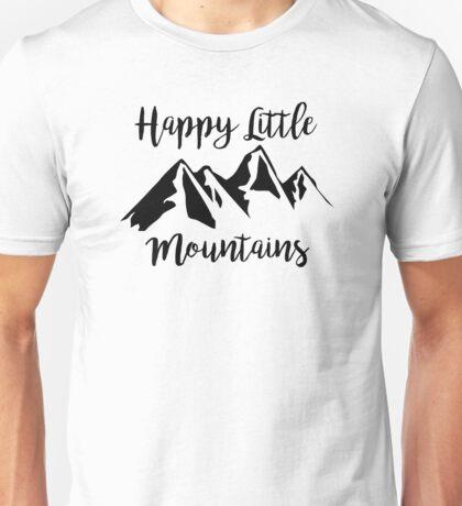Happy Little Mountains (Bob Ross) Unisex T-Shirt