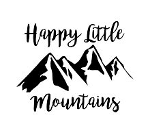 Happy Little Mountains (Bob Ross) Photographic Print