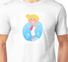 Cute blond woman in winter Unisex T-Shirt
