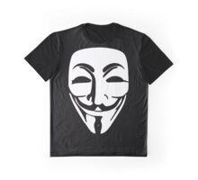 Anonymous (Guy Fawkes Mask) Graphic T-Shirt