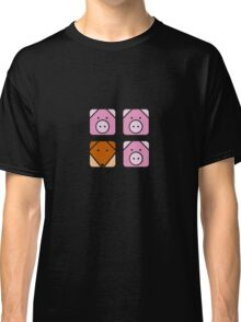 3 little pigs square Classic T-Shirt