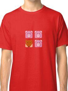 3 little pigs square Classic T-Shirt