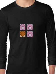 3 little pigs square Long Sleeve T-Shirt