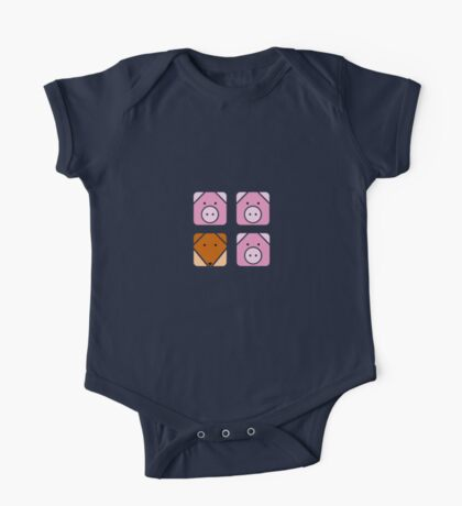 3 little pigs square One Piece - Short Sleeve