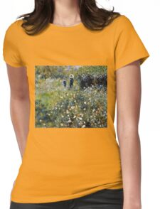 Renoir Auguste - Woman with a Parasol in a Garden (1875)  Womens Fitted T-Shirt