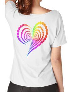 Rainbow Heart Women's Relaxed Fit T-Shirt