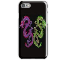 CHINESE DRAGON; Colorful Abstract Mirror Image Art Print iPhone Case/Skin