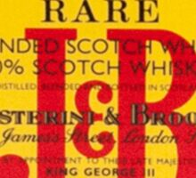 J&B Rare Scotch Whisky Blend Sticker