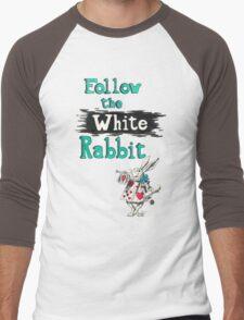 Follow the White Rabbit Men's Baseball ¾ T-Shirt