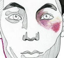 contour//bruise Sticker