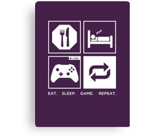 Eat. Sleep. Game. Repeat. Canvas Print