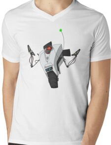 Portal Claptrap Sticker Mens V-Neck T-Shirt