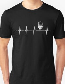 Golf Heartbeat, Funny Gift For Golfer Unisex T-Shirt