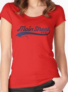 Main Street, U.S.A. Women's Fitted Scoop T-Shirt