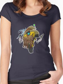 Wizard Claptrap Sticker Women's Fitted Scoop T-Shirt