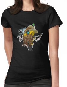 Wizard Claptrap Sticker Womens Fitted T-Shirt
