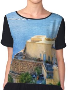 Scenic from Oia Chiffon Top
