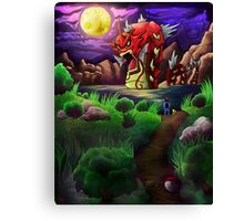 Red Gyarados Canvas Print