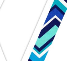 kappa delta chevron print Sticker