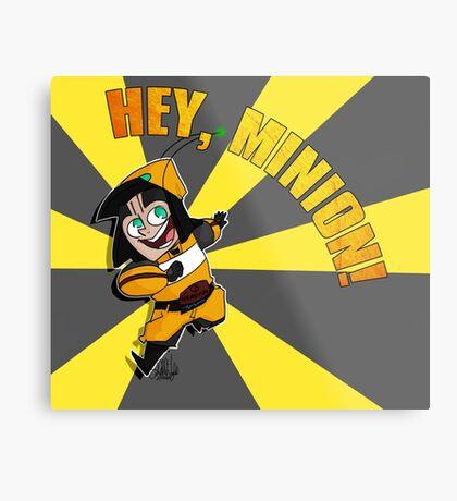 Hey, Minion! Metal Print