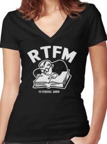 RTFM (WB) Women's Fitted V-Neck T-Shirt