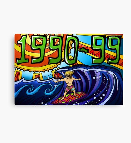 90s Homage Canvas Print