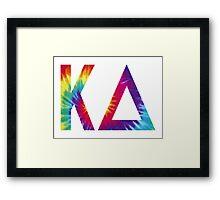 kappa delta tie dye Framed Print