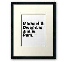 The Office Helvetica List Framed Print