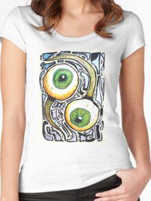 AYE, EYE Women's Fitted Scoop T-Shirt