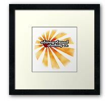 Retro Sunset Framed Print