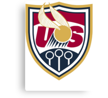 United States of America Quidditch Logo Large Canvas Print
