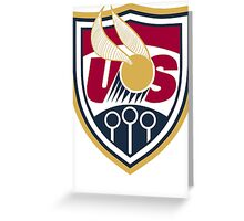 United States of America Quidditch Logo Large Greeting Card