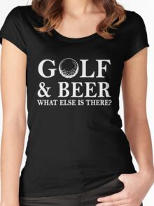 Golf And Beer What Else is There, Funny Golfer Love Golfing And Beer Funny Quote Women's Fitted Scoop T-Shirt