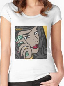 Summertime Shootout 2 cover Women's Fitted Scoop T-Shirt