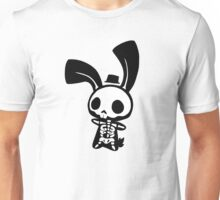 Chui Bunny's Skeleton in a Tiny Top Hat Unisex T-Shirt