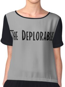 Trump and The Deplorables Chiffon Top