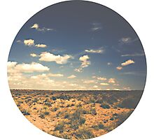 Wide Open West Sand Sun and Sage Photographic Print