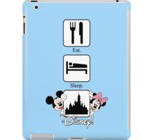 Eat. Sleep. Disney! Mickey & Minnie Vertical Tee and Cases for Him or Her! iPad Case/Skin