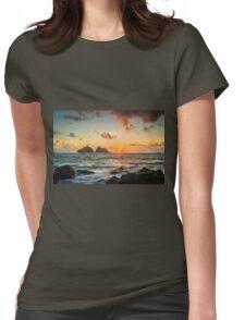 Cornish Sunset Womens Fitted T-Shirt