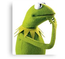 Kermit Contemplating, an aesthetic Canvas Print