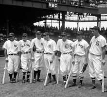 Seven of the American League's 1937 All-Star players by JoAnnFineArt