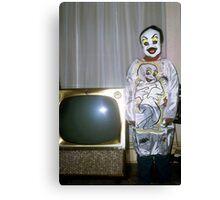 1960s Found Photo Halloween Card - Casper The Friendly Ghost Canvas Print