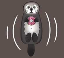 Sea Otter with Donut - Cute Otter Holding Doughnut with Little Paws Baby Tee